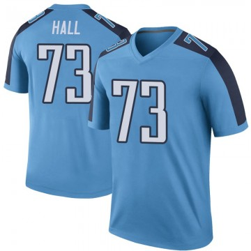 Youth Nike Tennessee Titans A.T. Hall Light Blue Color Rush Jersey - Legend