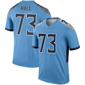 Youth Nike Tennessee Titans A.T. Hall Light Blue Inverted Jersey - Legend