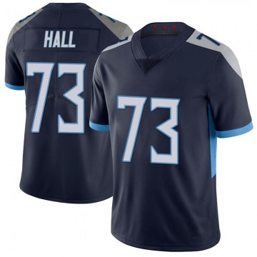 Youth Nike Tennessee Titans A.T. Hall Navy 100th Vapor Untouchable Jersey - Limited