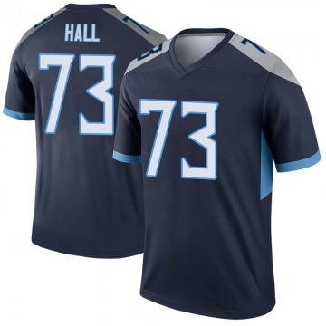 Youth Nike Tennessee Titans A.T. Hall Navy Jersey - Legend