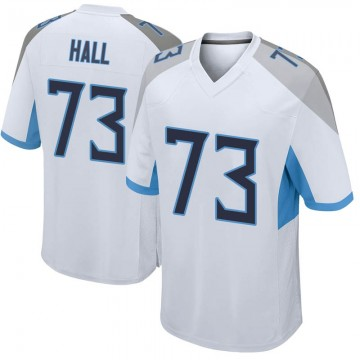 Youth Nike Tennessee Titans A.T. Hall White Jersey - Game