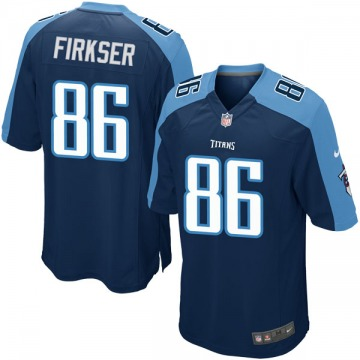 Youth Nike Tennessee Titans Anthony Firkser Navy Blue Alternate Jersey - Game