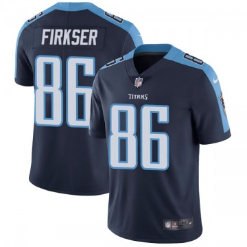 Youth Nike Tennessee Titans Anthony Firkser Navy Blue Alternate Vapor Untouchable Jersey - Limited