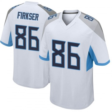 Youth Nike Tennessee Titans Anthony Firkser White Jersey - Game