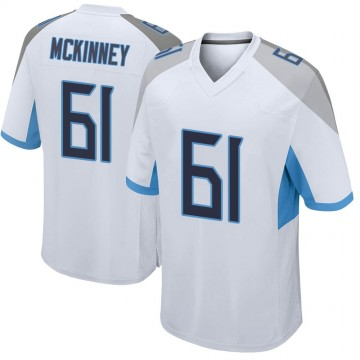 Youth Nike Tennessee Titans Anthony McKinney White Jersey - Game