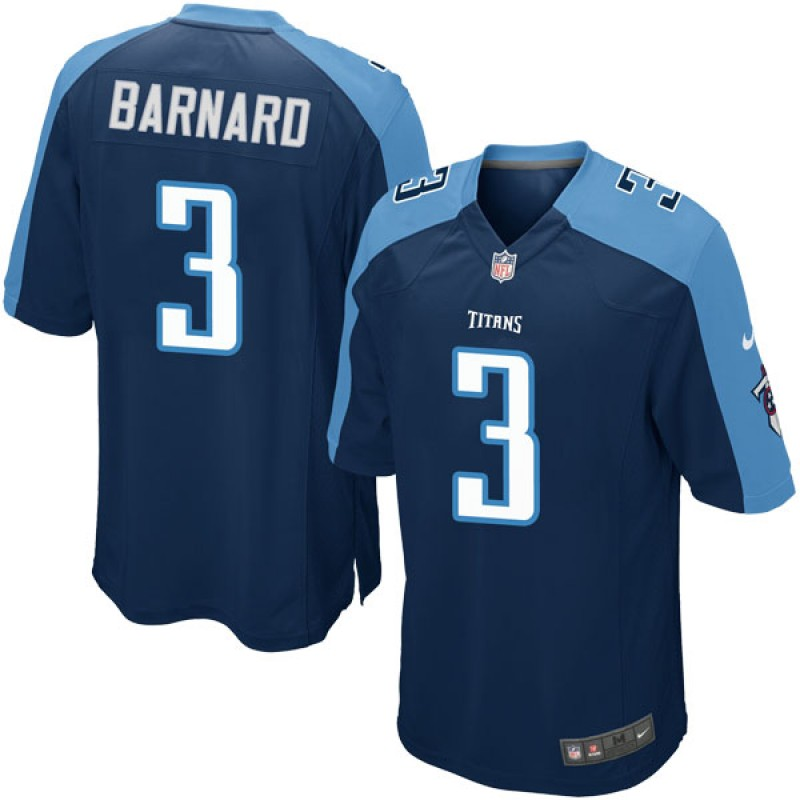 huge discount b7153 1c046 Youth Nike Tennessee Titans Austin Barnard Navy Blue Alternate Jersey - Game