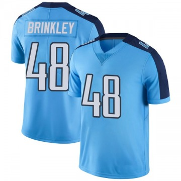 Youth Nike Tennessee Titans Beau Brinkley Light Blue Color Rush Jersey - Limited