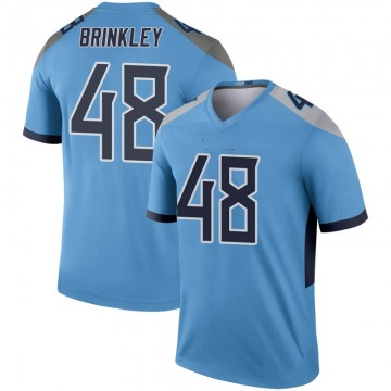 Youth Nike Tennessee Titans Beau Brinkley Light Blue Inverted Jersey - Legend