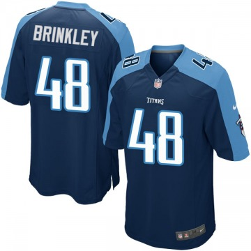 Youth Nike Tennessee Titans Beau Brinkley Navy Blue Alternate Jersey - Game