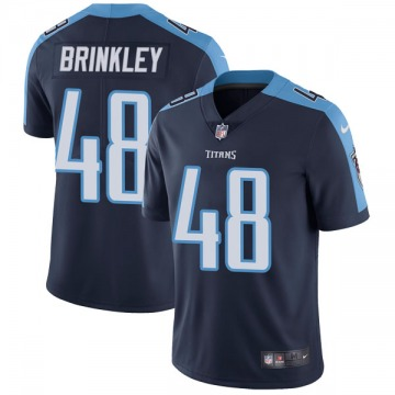 Youth Nike Tennessee Titans Beau Brinkley Navy Blue Alternate Vapor Untouchable Jersey - Limited