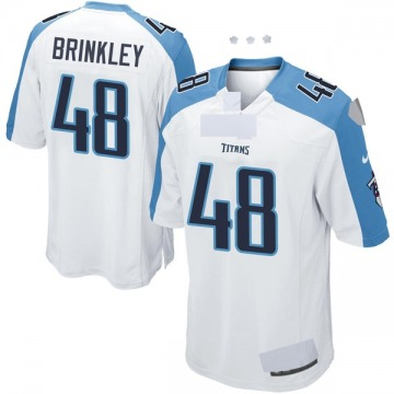 Youth Nike Tennessee Titans Beau Brinkley White Jersey - Game