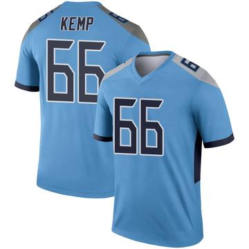 Youth Nike Tennessee Titans Brandon Kemp Light Blue Jersey - Legend