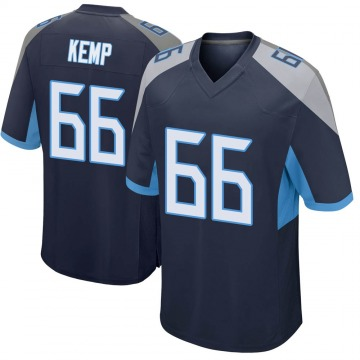 Youth Nike Tennessee Titans Brandon Kemp Navy Jersey - Game