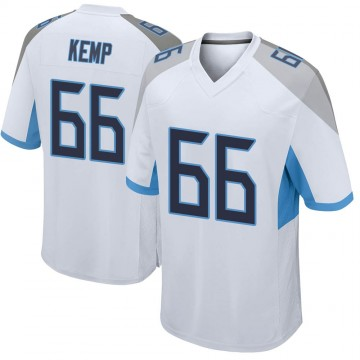 Youth Nike Tennessee Titans Brandon Kemp White Jersey - Game