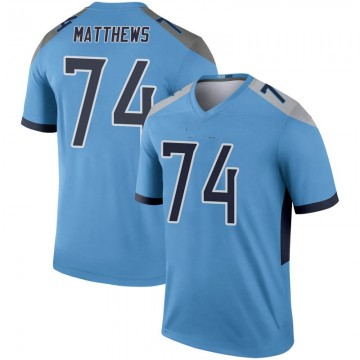 Youth Nike Tennessee Titans Bruce Matthews Light Blue Inverted Jersey - Legend