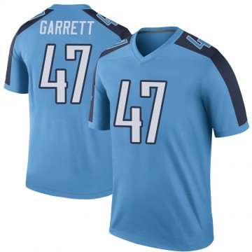 Youth Nike Tennessee Titans Cale Garrett Light Blue Color Rush Jersey - Legend