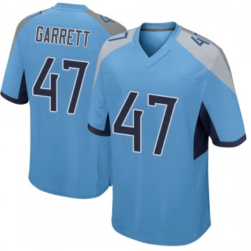 Youth Nike Tennessee Titans Cale Garrett Light Blue Jersey - Game