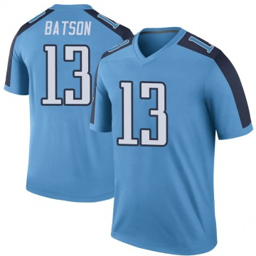 Youth Nike Tennessee Titans Cameron Batson Light Blue Color Rush Jersey - Legend