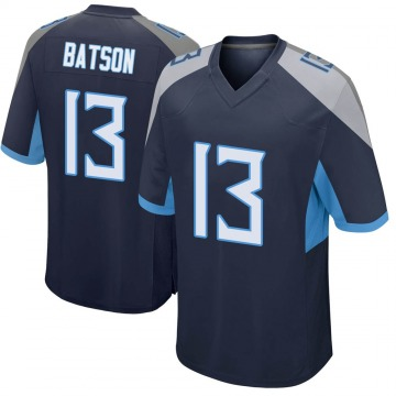 Youth Nike Tennessee Titans Cameron Batson Navy Jersey - Game