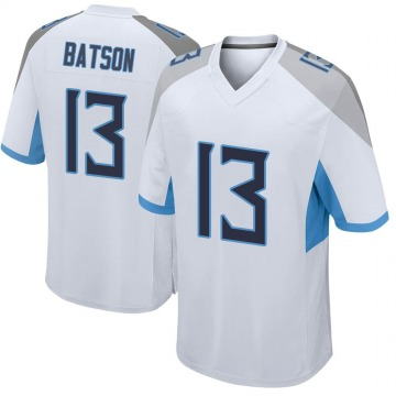 Youth Nike Tennessee Titans Cameron Batson White Jersey - Game