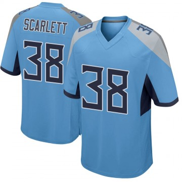 Youth Nike Tennessee Titans Cameron Scarlett Light Blue Jersey - Game