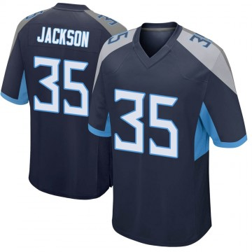 Youth Nike Tennessee Titans Chris Jackson Navy Jersey - Game