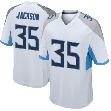 Youth Nike Tennessee Titans Chris Jackson White Jersey - Game