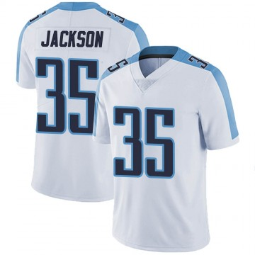 Youth Nike Tennessee Titans Chris Jackson White Vapor Untouchable Jersey - Limited