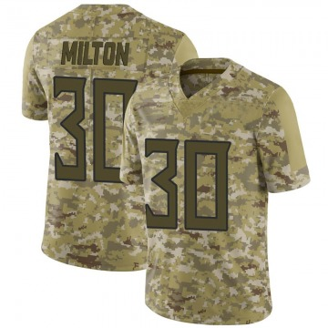 Youth Nike Tennessee Titans Chris Milton Camo 2018 Salute to Service Jersey - Limited