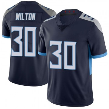 Youth Nike Tennessee Titans Chris Milton Navy 100th Vapor Untouchable Jersey - Limited