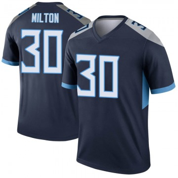 Youth Nike Tennessee Titans Chris Milton Navy Jersey - Legend