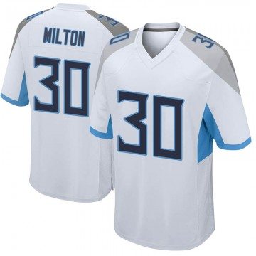 Youth Nike Tennessee Titans Chris Milton White Jersey - Game