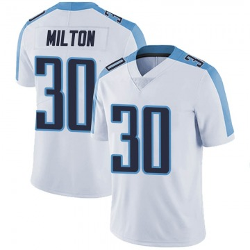 Youth Nike Tennessee Titans Chris Milton White Vapor Untouchable Jersey - Limited