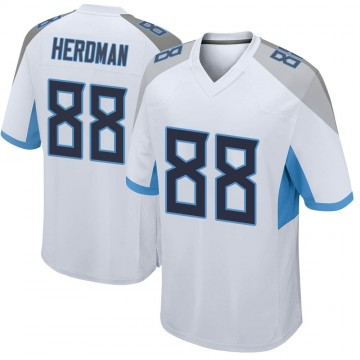 Youth Nike Tennessee Titans Cole Herdman White Jersey - Game