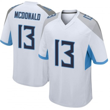 Youth Nike Tennessee Titans Cole McDonald White Jersey - Game