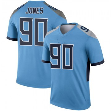 Youth Nike Tennessee Titans DaQuan Jones Light Blue Inverted Jersey - Legend