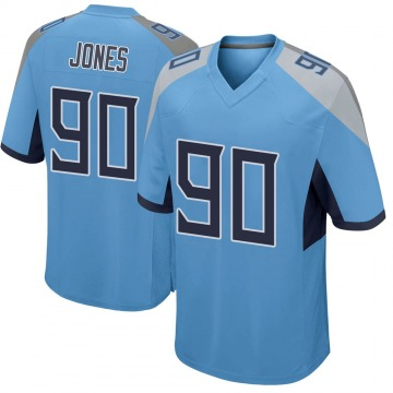 Youth Nike Tennessee Titans DaQuan Jones Light Blue Jersey - Game
