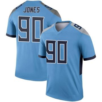 Youth Nike Tennessee Titans DaQuan Jones Light Blue Jersey - Legend