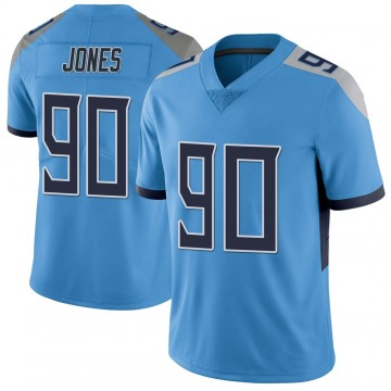 Youth Nike Tennessee Titans DaQuan Jones Light Blue Vapor Untouchable Jersey - Limited
