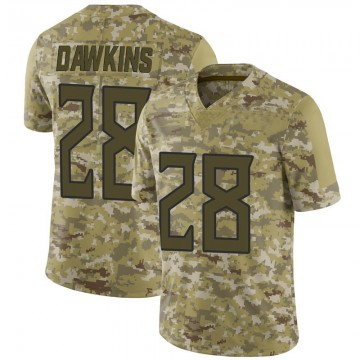 Youth Nike Tennessee Titans Dalyn Dawkins Camo 2018 Salute to Service Jersey - Limited