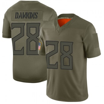 Youth Nike Tennessee Titans Dalyn Dawkins Camo 2019 Salute to Service Jersey - Limited