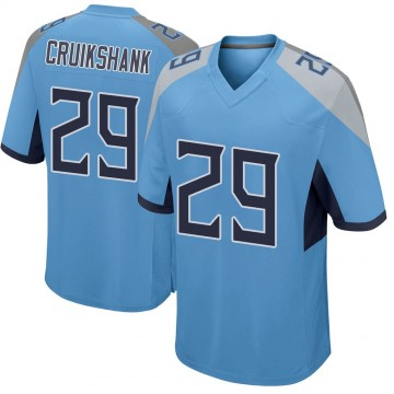 Youth Nike Tennessee Titans Dane Cruikshank Light Blue Team Color Jersey - Game