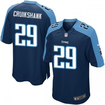Youth Nike Tennessee Titans Dane Cruikshank Navy Blue Alternate Jersey - Game
