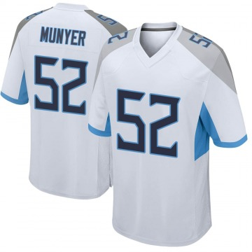 Youth Nike Tennessee Titans Daniel Munyer White Jersey - Game