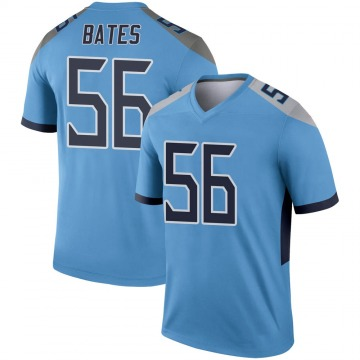 Youth Nike Tennessee Titans Daren Bates Light Blue Jersey - Legend