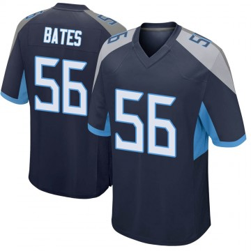 Youth Nike Tennessee Titans Daren Bates Navy Jersey - Game