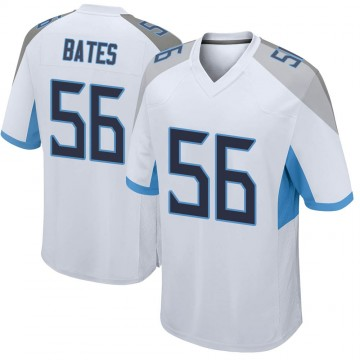 Youth Nike Tennessee Titans Daren Bates White Jersey - Game