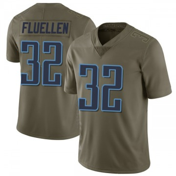 Youth Nike Tennessee Titans David Fluellen Green 2017 Salute to Service Jersey - Limited