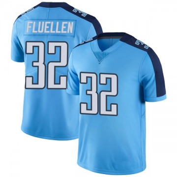 Youth Nike Tennessee Titans David Fluellen Light Blue Color Rush Jersey - Limited