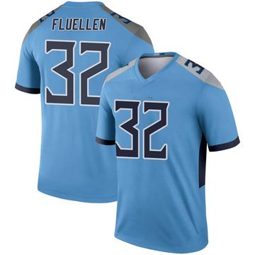 Youth Nike Tennessee Titans David Fluellen Light Blue Inverted Jersey - Legend